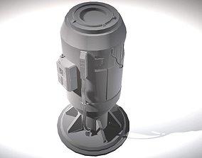Sci-Fi Power Generator - Tech Element 3D model