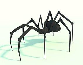 3D asset Low Poly Spider Model