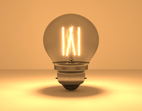 3D Light bulb - LED Filament