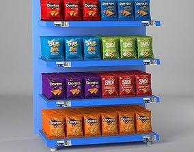 3D asset supermarket shelves