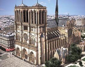 Notre Dame de Paris Tribute 3d model