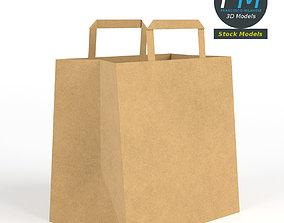 Fast food paper bag 3D