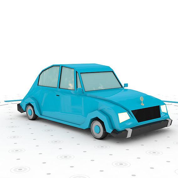 Cartoon low poly car