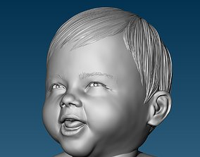 Baby at the potty HIGHPOLY 3D Print
