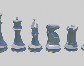 Low Poly Chess Pieces - Printable print