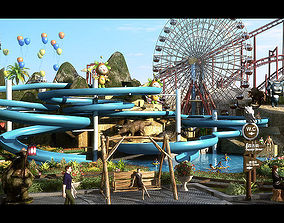 Amusement Park 08 3D