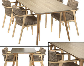 Zio Dining Table 3D model