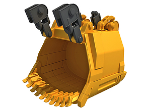 digging 3D model Excavator Bucket