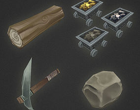 Low Poly RTS Misc Items 3D model
