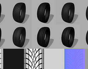vehicle 3D model Tyre Tread vol 01