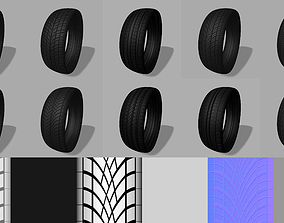 vehicle 3D model Tyre Tread vol 01