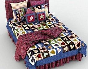 3D model Double Bed Bed Linen