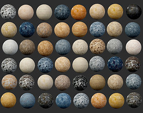 60 Marble and Granite Seamless PBR 3D model