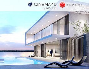 Redshift - C4D Scene files - Modern Minimalist 3D model 1