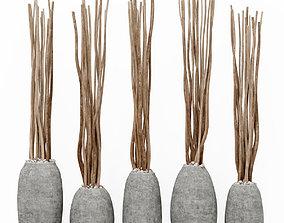 Branch dry vase barrel 3D