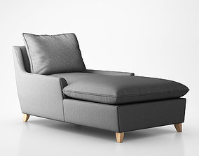 Bliss Down-Filled Chaise by West Elm 3D