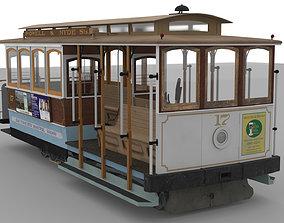 San Francisco Cable Car 3D asset