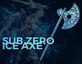 Sub Zero - Ice Axe - Mortal Kombat 3D model realtime