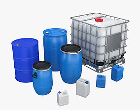 3D Industrial containers for liquid Collection