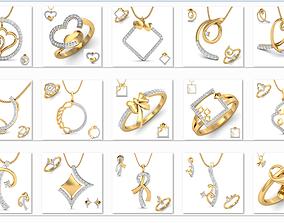 150 Ring Earrings Pendant 3dm Matching Bulk collection