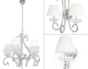 3D model Baroque Crystal Lamps Collection floor-light