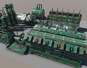 Engine room devices 3D asset