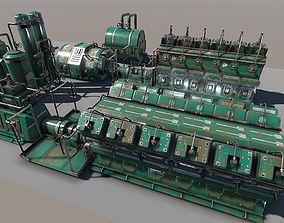 Engine room devices 3D asset