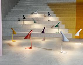 Louis Poulsen Arne Jacobsen Table Lamp Scene 3D model