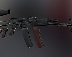 3D model VR / AR ready AK-74