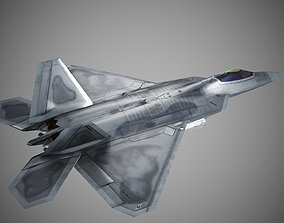 3D model USA AIR FORCE F-22 Raptor Fighter Lockheed Martin