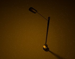 rendered Roadlight 3d Model with light