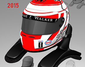 Jenson Button Helmet 2015 3D model