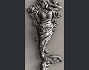 3d STL models for CNC mermaid