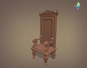 3D model 16th Century Gothic Walnut Chair