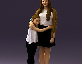 3D print model Mom with daughter 0600