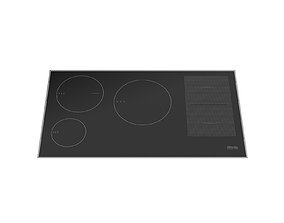 3D model Electric induction hob MIELE KM 6669-1 942 mm