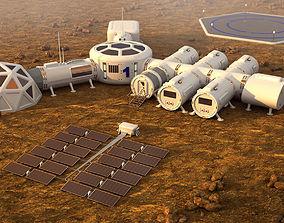 Mars City colone 3d model