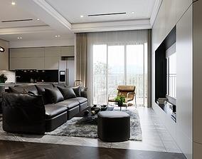 LIVING ROOM AND KICHEN 3D MODEL