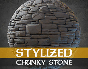 3D model Stylized Material - Chunky Stone Wall Floor - 1