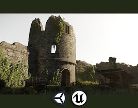 Castle Ruins - PBR Destroyed Castle Parts 3D asset