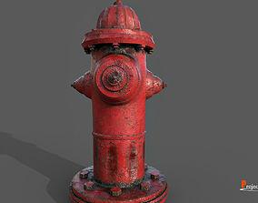 Fire Hydrant V01 3D asset VR / AR ready