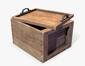 3D asset game-ready Wooden Crate