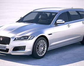 3D model Jaguar XF Sportbrake Pure 2018