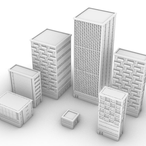 Modular 3d Printable Buildings Pack