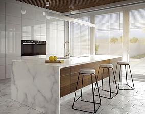 oven kitchen furniture 3D