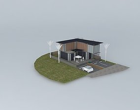 3D Small resort cottage 03
