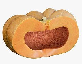 3D asset Pumpkin Clean Cutted Empty Inside