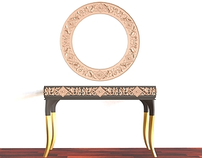Console Mirror Table 3D Model