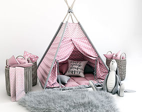 3D model Teepee with decor