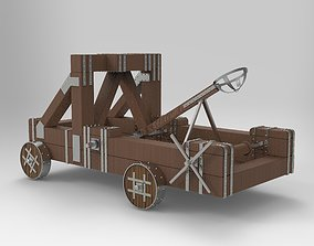 3D asset Antique Catapult